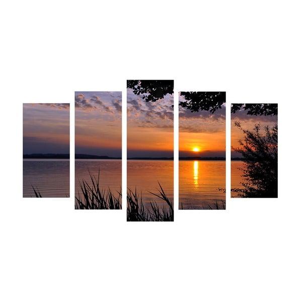 5-dielny obraz Sunset, 60x100 cm