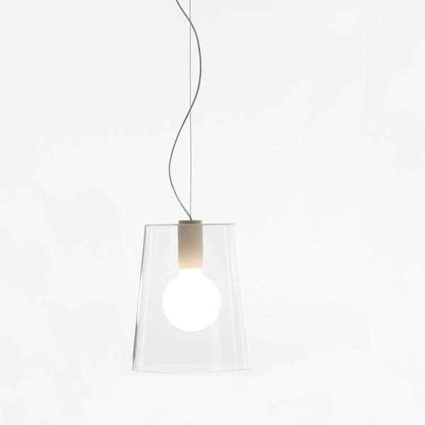 Závesné svietidlo Pedrali L001S/A, biele transparentné