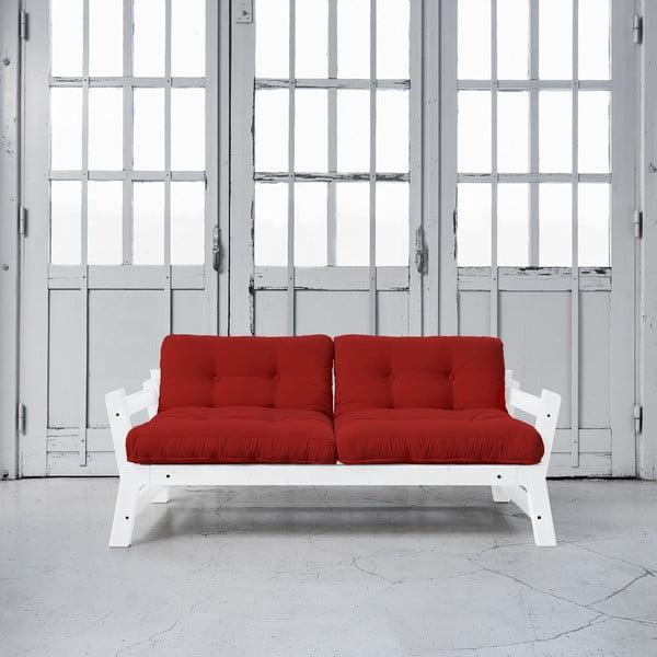 Rozkladacia pohovka Karup Step White/Red