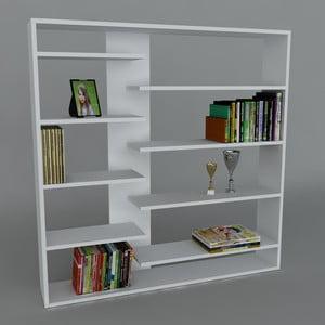 Knižnica Handy Book White, 22x125x126 cm