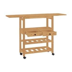 Rozkladací kuchynský vozík z borovicového dreva Støraa Nemo