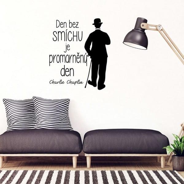 Samolepka na stenu s citátom Ambiance Charlie Chaplin