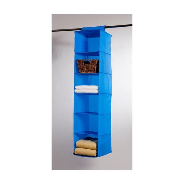 Modrý závesný organizér so 6 priehradkami Compactor Garment