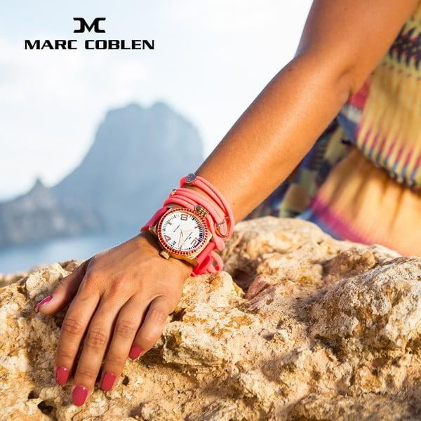Dámske hodinky Marc Coblen s remienkom a krúžkom na ciferník naviac P33