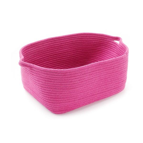 Ružový úložný košík Cestia
