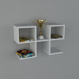 Polica Vita Book White, 22x65,4x40 cm