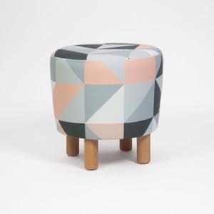 Taburet s drevenými nohami Cono Tepe, ⌀ 41 cm