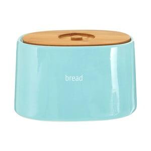 Modrý chlebník s bambusovým vrchnákom Premier Housewares Fletcher, 800 ml