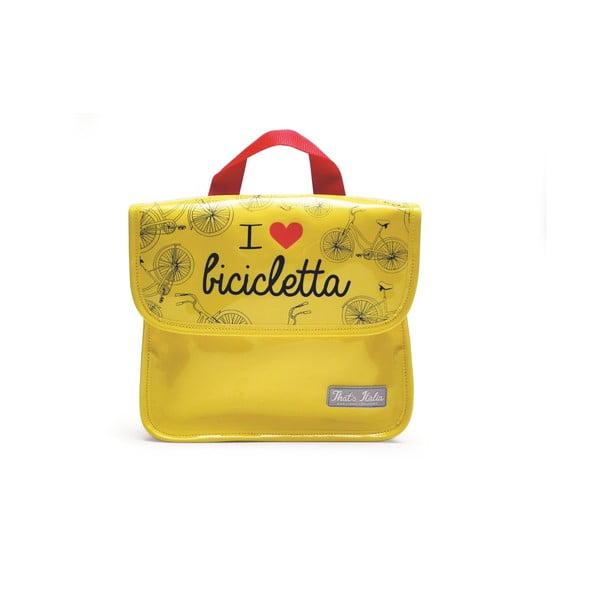 Taška na tablet I ♥ Bicicleta, žltá