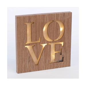 Obraz so svietiacim nápisom Love, 34x34 cm