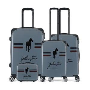 Sada 4 tmavosivých cestovných kufrov na kolieskach GENTLEMAN FARMER Integre & Vanity Malo