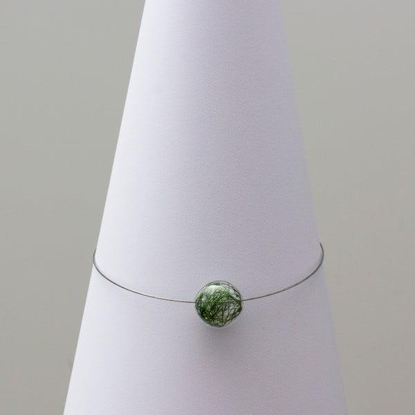 Sklenený náhrdelník ko-ra-le Wired, zelený