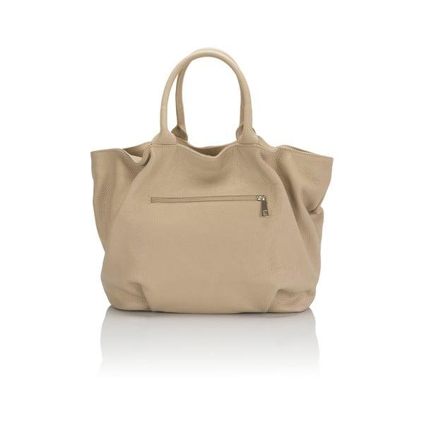 Kožená kabelka Markese 5021 Beige