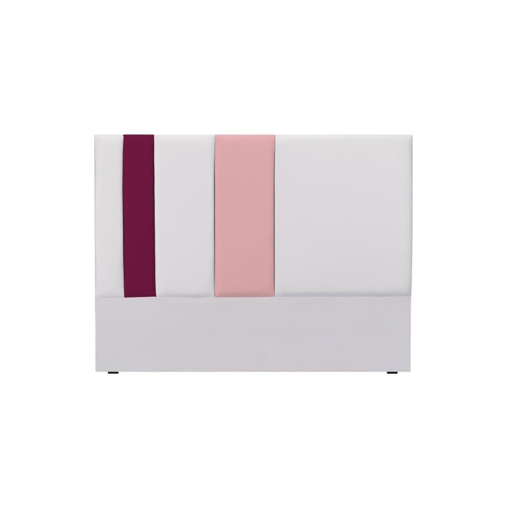 Sivo-ružové čelo postele Mazzini Sofas Dahlia, 120 × 160 cm