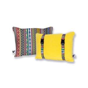Žltý obojstranný plážový vankúš Origama Inka