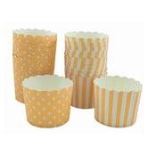Sada 24 papierových košíkov na cupcakes Sweet Pink