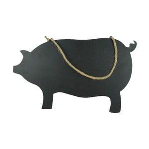 Závesná ceduľka na písanie kriedou Piggy