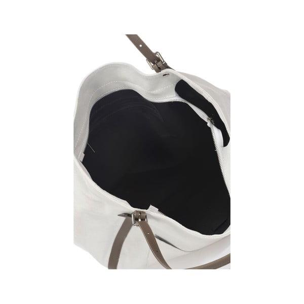 Sivá kožená kabelka Krole Karin