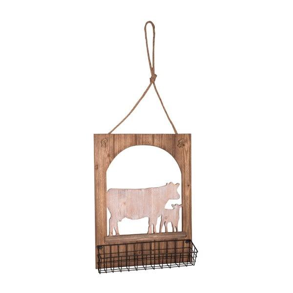 Dekoratívny drevený závesný košík Antic Line