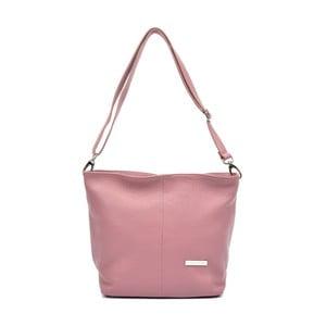 Ružová kožená kabelka Luisa Vannino Simona
