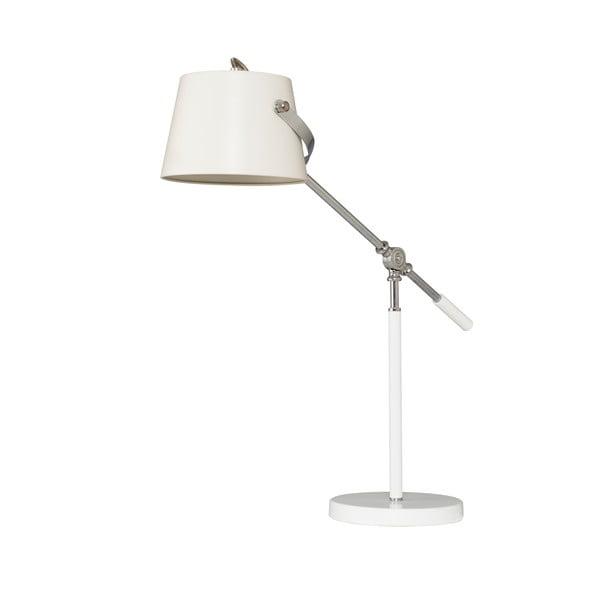 Stolná lampa Xavier, biela