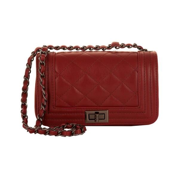 Kožená kabelka Andrea Cardone 2030 Ruby Red