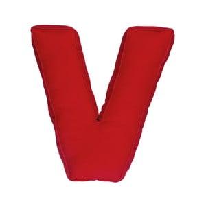 Látkový vankúš V, červený