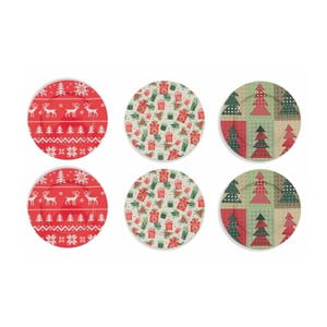 Sada 6 vianočných tanierov Villa d'Este XMAS Sottopiatto