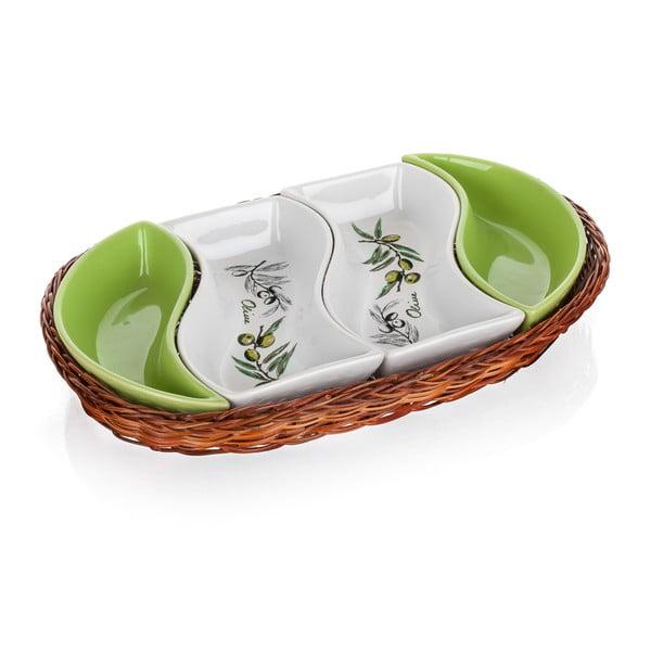 Tácka v košíku Banquet Olives, 30,5 cm
