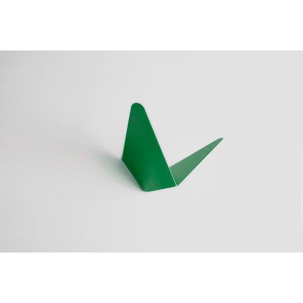 Zelený vešiak s úložným priestorom Butterfly Small, 8,9x8,3 cm