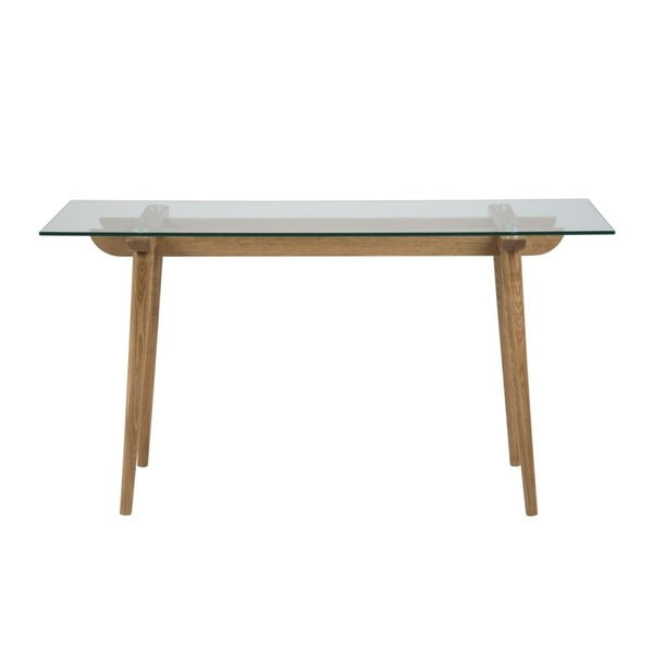 Konzolový stolík so sklenenou doskou Actona Ta×i
