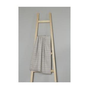 Béžový pruhovaný bavlnený uterák My Home Plus Spa, 50×90 cm
