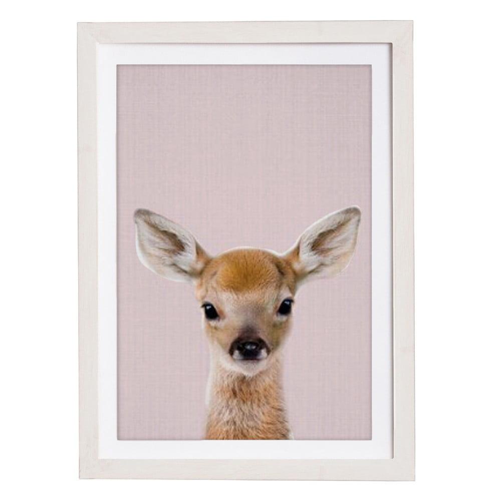 Nástenný obraz v ráme Querido Bestiario Baby Deer, 30 x 40 cm