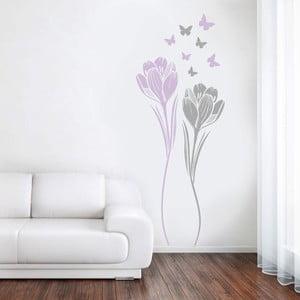 Dekoratívna samolepka na stenu Tulipány
