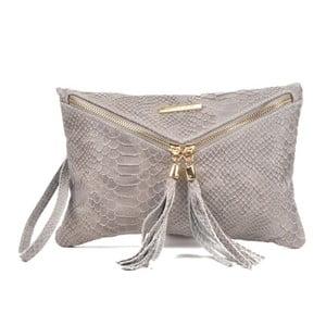 Sivá kožená kabelka Roberta M Gula Grigio