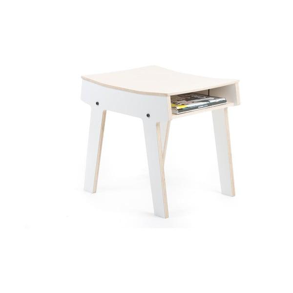 Biela stolička/stolík s úložným priestorom rform Pi