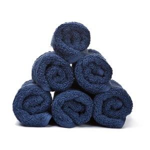 Sada 6 modrých bavlnených uterákov CasaDiBassi Guest, 30x50cm