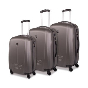 Sada troch sivých cestovných kufrov Tempo