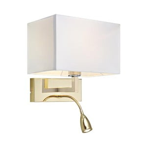 Zlaté nástenné svetlo sa čítacím svetielkom Markslöjd Savoy