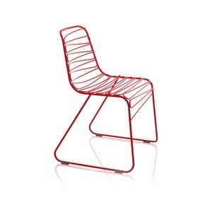 Červená jedálenská stolička Magis Flux