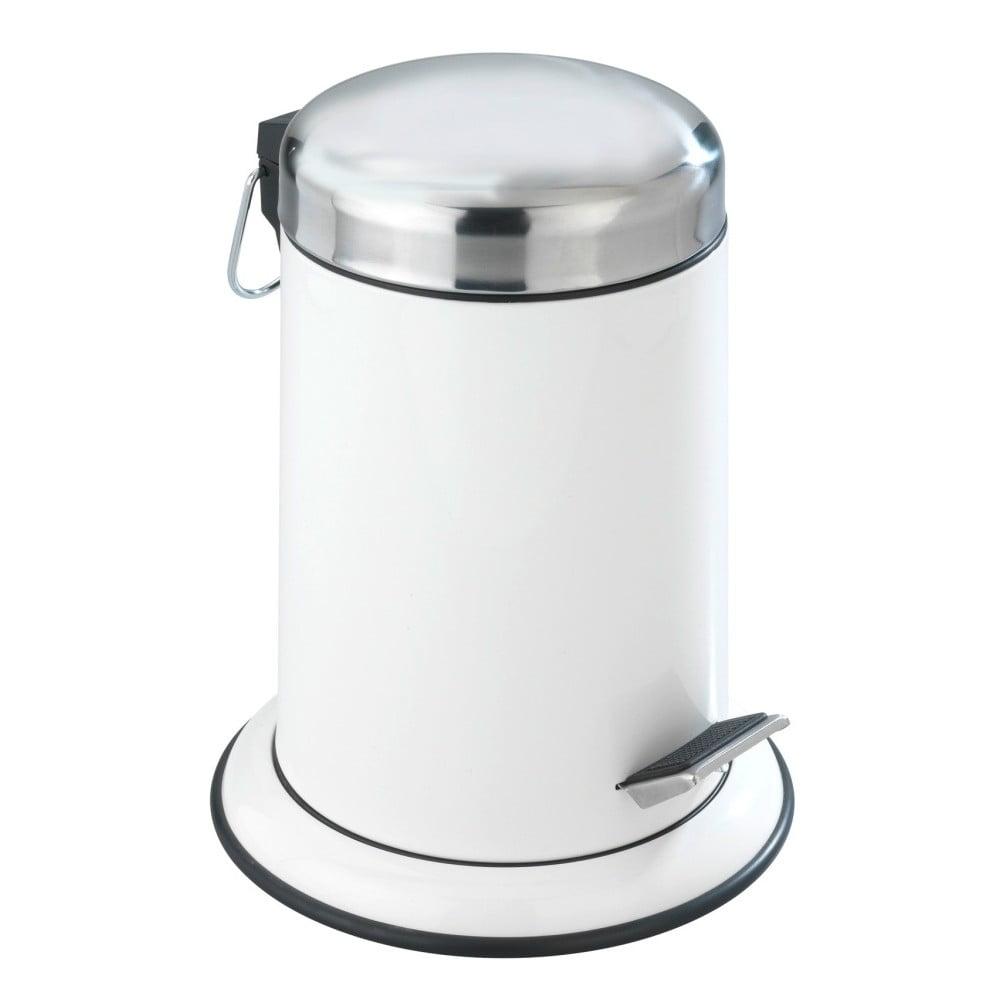 Biely pedálový odpadkový kôš Wenko Retoro, 3 l