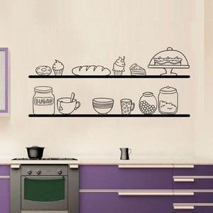 Samolepka na stenu Kitchen Shelves