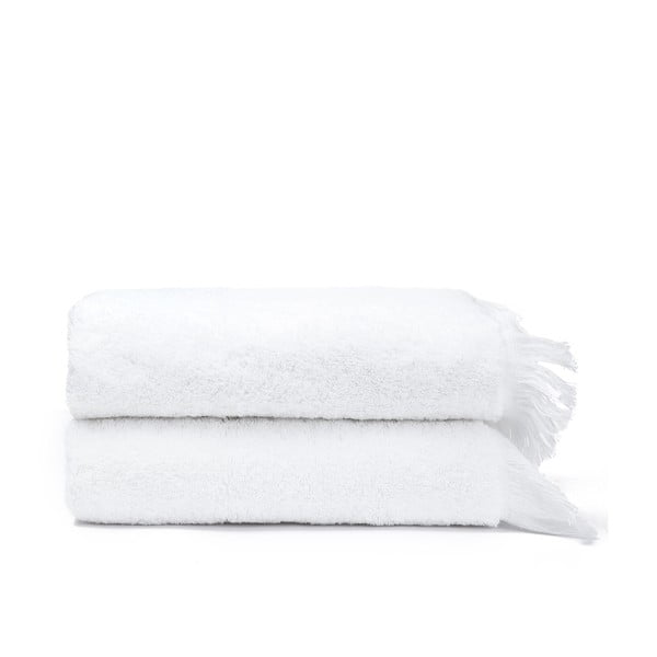 Sada 2 bielych bavlnených uterákov Casa Di Bassi Face, 50x90cm