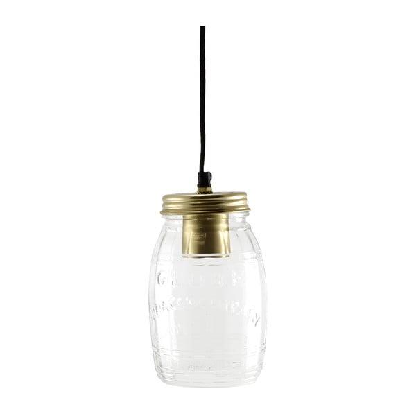 Stropné svetlo Glass Jar Brass
