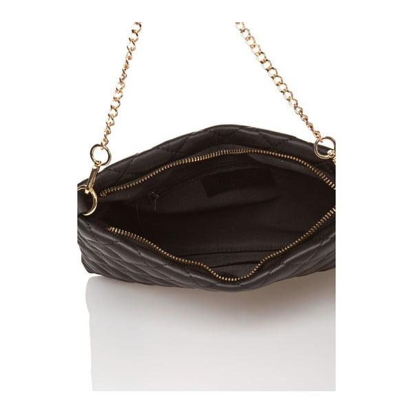 Čierna kožená kabelka Edmond Louis Ines
