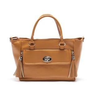 Hnedá kožená kabelka Mangotti Iresine