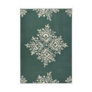 Zeleno-biely koberec Hanse Home Gloria Blossom, 80 x 150 cm