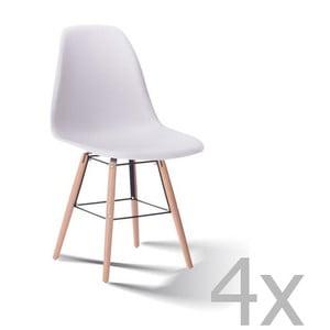 Sada 4 bielych stoličiek SOB Carson