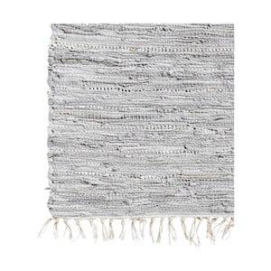 Kožený koberec Nordal 75x150 cm, šedý