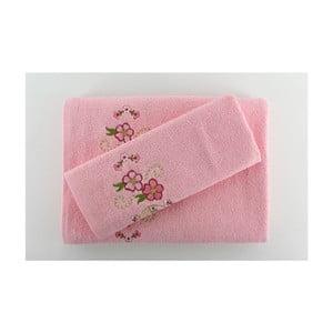 Sada 2 uterákov Happy Pink